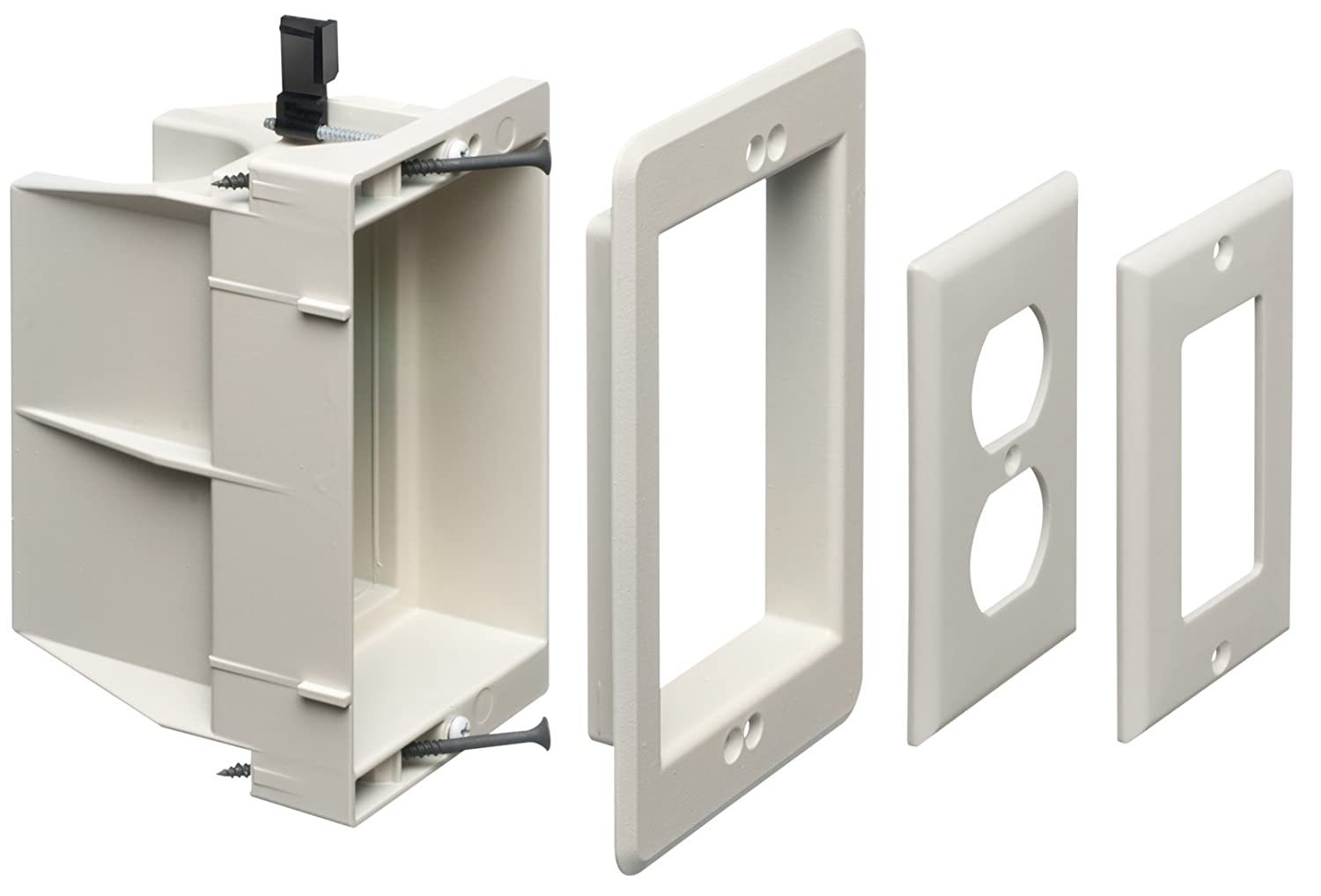 Electrical Wall Boxes : Arlington dvfr w recessed electrical outlet mounting box