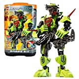 Lego Year 2011 Hero Factory Series 6 Inch Tall Figure Set #2142 Breez 2.0 With Detachable Throwing Blades, Hooks...