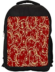 """Snoogg Abstract Yellow Red Pattern Casual Laptop Backpak Fits All 15 - 15.6"""" Inch Laptops"""
