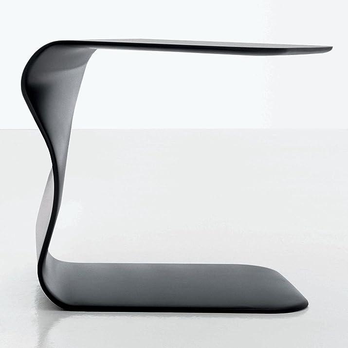 BONALDO tavolino Duffy grigio antracite opaco laccato comodino camera sala TD35