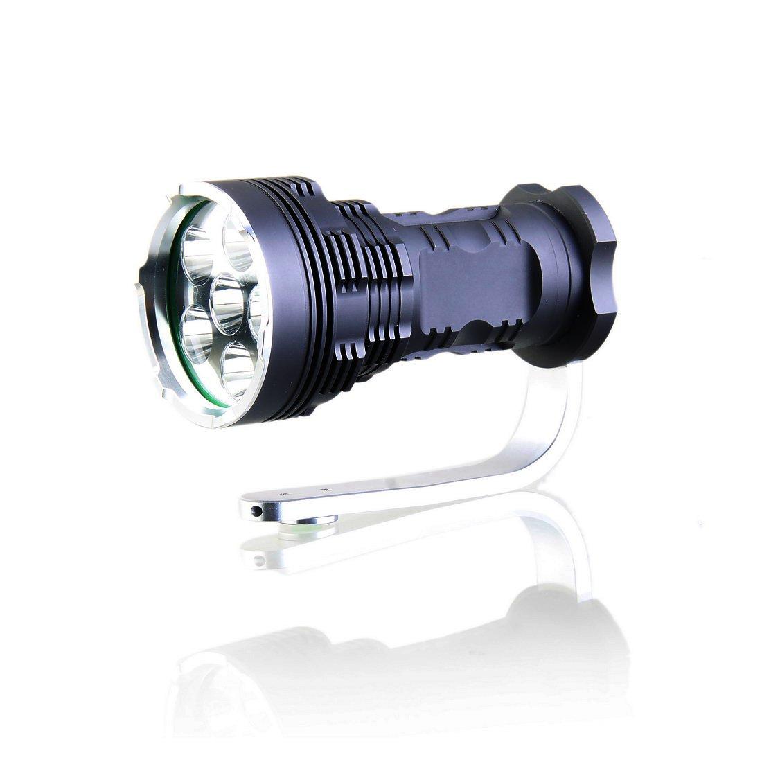KINFIRE K68S 6xCree T6 LED wiederaufladbare Taschenlampe 4x18650 Ladegeräte 5000lm 5 Mode Camping Frontleuchte  Kundenbewertung und Beschreibung