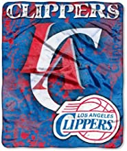 Los Angeles Clippers 503939x603939 Royal Plush Raschel Throw Blanket - Drop Down Design by Hall of F