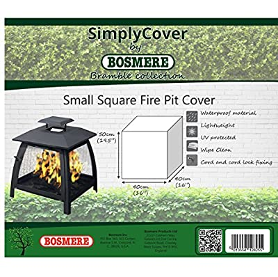 Bosmere L570 Simply Cover Bramble Green Small Square Fire Pit Cover by BOSMERE PRODUCTS LIMITED