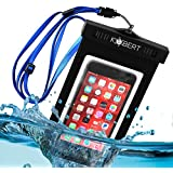 Kobert Waterproof Case (Deluxe) - Dry Bag Fits iPhone 6 Plus, 6, 5, Samsung Galaxy s6, s5, Note 4 - Protection For Your Phone - Blue Adjustable Strap