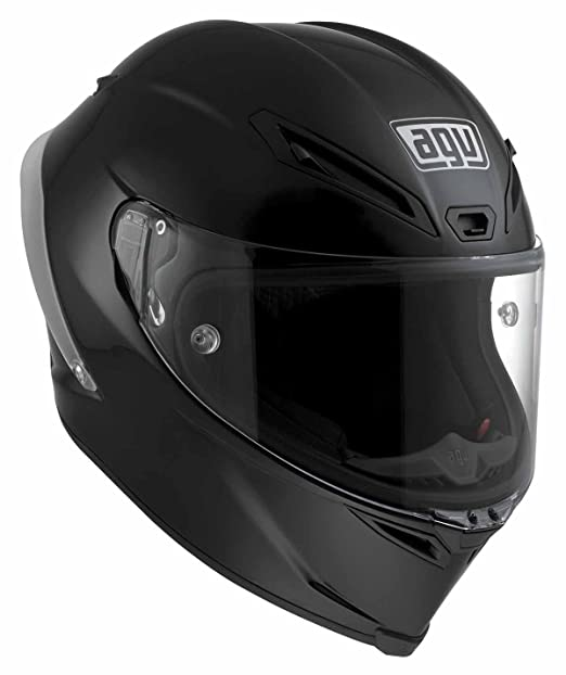 AGV Helmets 6101A4DW_004_ML Casque Intégral Corsa  E2205 Solid W, Noir (Matt Noir), ML
