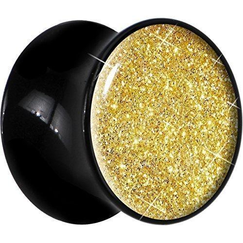 20-mm-enchufe-fijador-color-fiebre-de-oro-brillante-con-acrilico-negro