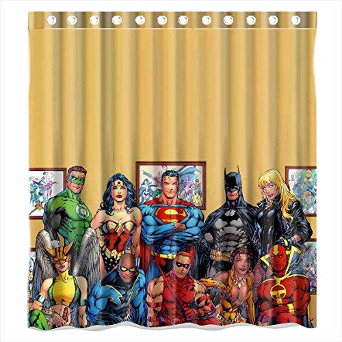 Justice League Batman Superman Wonder Woman Shower Curtain