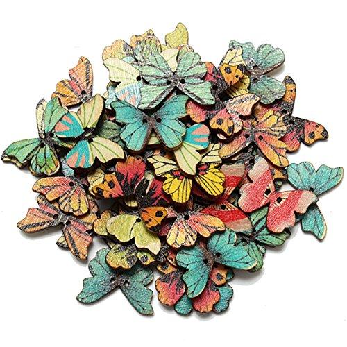 kingso-50pcs-2-holes-mixed-butterfly-wooden-button-sewing-scrapbooking-diy-craft