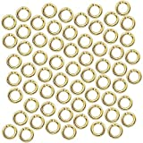 Beadaholique 4mm 20 Gauge Open Jump Rings 22k Gold Plated (100)