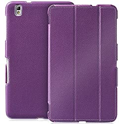 GreatShield Samsung Galaxy Tab Pro 8.4 Slim-Fit Leather Case [VANTAGE] Series Cover with Auto Sleep/Wake Feature for Galaxy TabPRO 8.4-Inch Tablet - Retail Packaging (Purple)