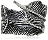 M.Cohen Handmade Designs Men's Silver Feather Adjustable Ring