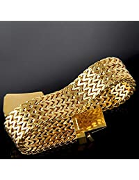 ANVI JEWELLERS 18CT GOLD AND RODIUM PLATED BRACELET AT SPECIAL PRICE