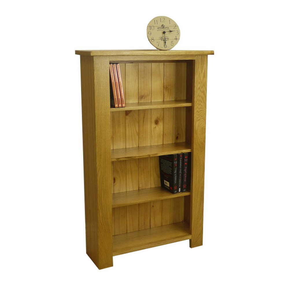 OAKLAND   CHUNKY OAK 4 SHELVES CD / DVD / GAMES STORAGE UNIT / SOLID MEDIA TOWER FURNITURE       review and more news