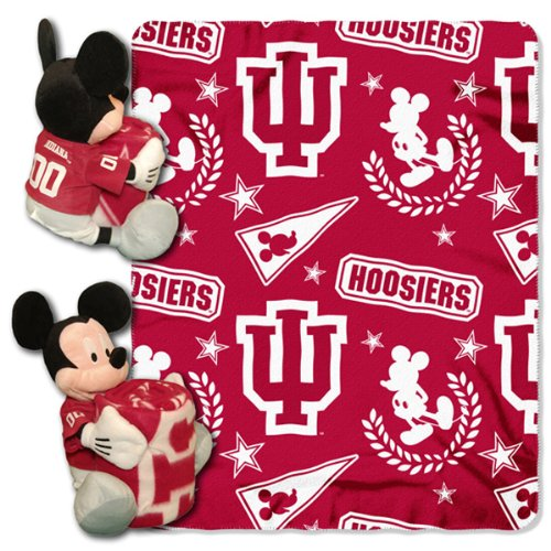 Ncaa Indiana Hoosiers 40X50-Inch Throw With 14-Inch Hugger front-856237