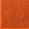 "Andersen 221 Waterhog Fashion Diamond Polypropylene Fiber Entrance Indoor/Outdoor Floor Mat, SBR Rubber Backing, 10' Length x 3' Width, 3/8"" Thick, Orange"