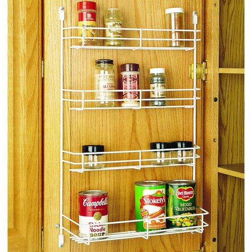Rev-A-Shelf 565-14-52 565 Series 13.625″ Width Door Mount Spice Rack, White Reviews