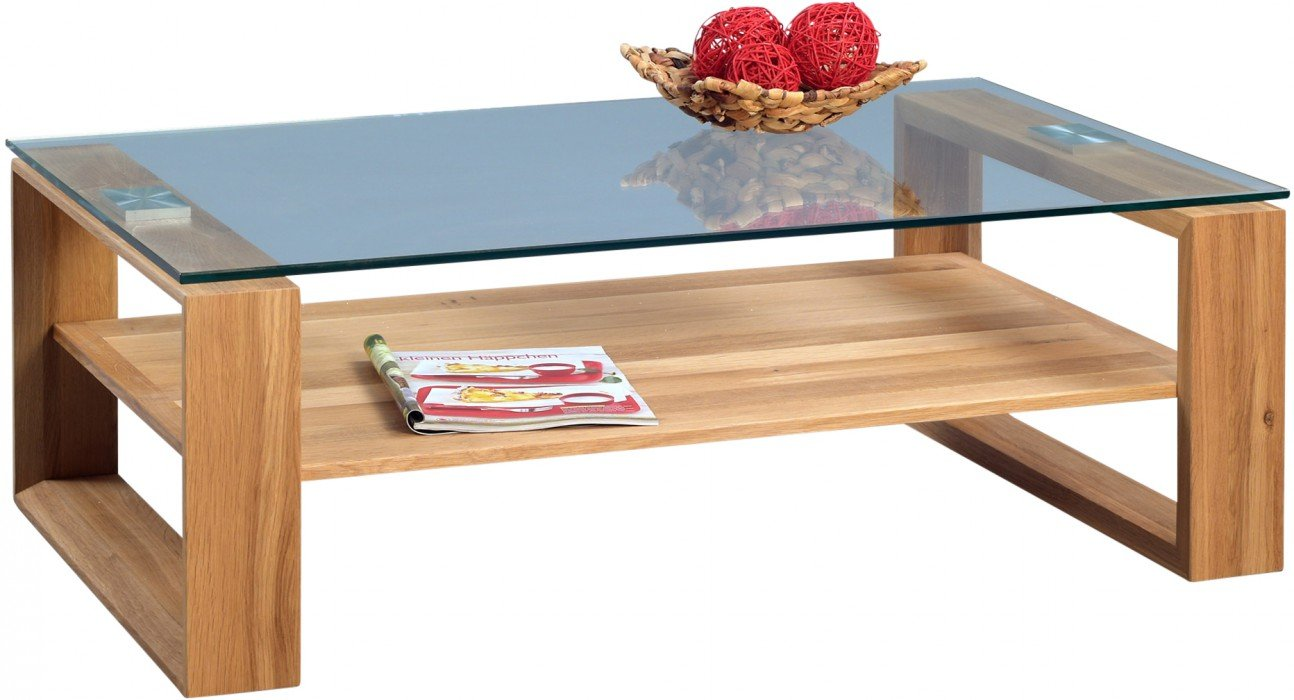 HomeTrends4You 267022 Couchtisch, 105 x 38 x 65 cm, Wildeiche massiv geölt bestellen