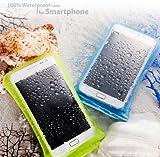 【DiCAPac】スマホ完全防水ケース (iPhone/Galaxy/Xperia/Android - 対応) (WP-C1 (4.7インチ以下スマホ専用), ブルー)