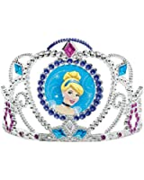 "Cinderella Disney Princess Birthday Party Electroplated Tiara Wearable Accessory Supply (1 Piece), Multi Color, 3 1/2"" x 4 1/2""."