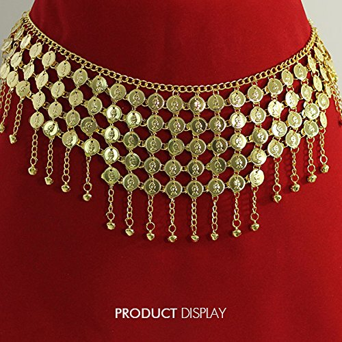 1pc Women Lady Gold Metal Coins Waist Chain Belly Dance Hip Scarf Belt Skirt Chain for Dancewear Decoration Ld5