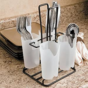 Amazon.com: Flatware Caddy - BLACK - Improvements: Kitchen & Dining