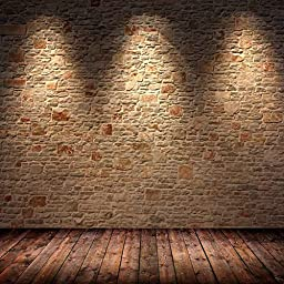 GladsBuy Light Bricks 10\' x 10\' Digital Printing Photography Backdrop Wall Theme Anti-UV Studio Background YHB-296