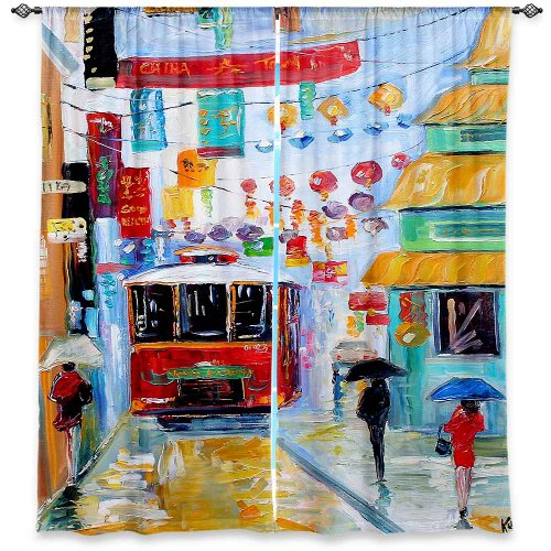 Window Curtains Unlined From Dianoche Designs Artistic, Stylish, Unique, Decorative, Fun, Funky, Cool By - Karen Tarlton China Town