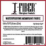 "J-Fiber High Density Fiberglass Waterproofing Membrane Fabric - 6"" X 75 Roll"