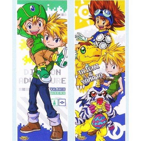 Digimon Adventure Series Character Poster Collection [5. Ishida Yamato & Takaishi Takeru / Taichi Yagami & Agumon & Ishida Yamato & Gabumon] (single)