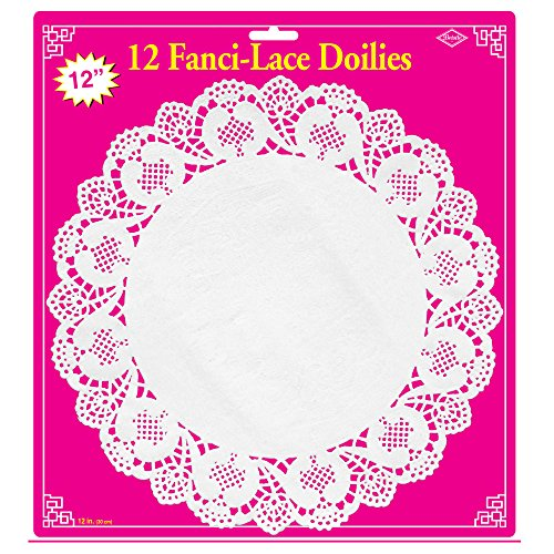 Fanci-Lace White Bond Doilies   (12/Pkg)
