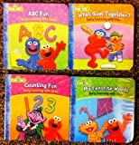 img - for Sesame Street Early Learning With Elmo Mini Board Books (COMPLETE FOUR BOOKS SET) book / textbook / text book
