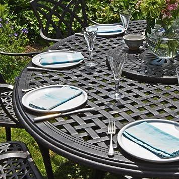 195 x meubles Ensemble de ovale jardin Table Summer 145cm tdhQsrC