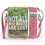 Natural Life Cosmetic Bag, Not All Who Wander