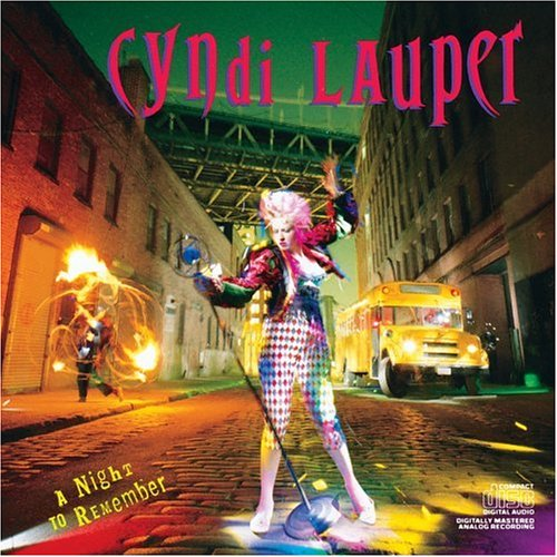 Cyndi Lauper i Drove All Night Album Cyndi Lauper Night to