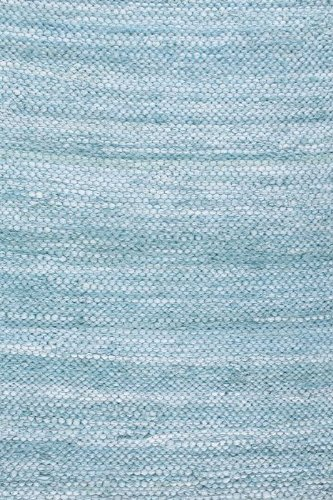 Prairie Rugs Cotton Area Rugs Aqua Marine 2 x 3 Foot