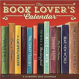 Orange Circle Studio 16-Month 2016 Wall Calendar, Book Lover\'s