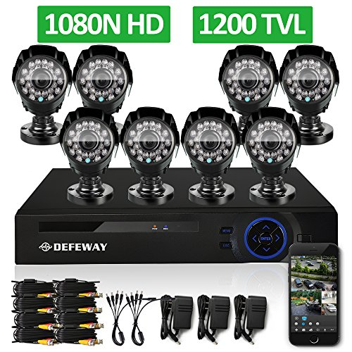 DEFEWAY-8CH-1080N-Security-DVR-8-1200TVL-720P-HD-Outdoor-Video-Surveillance-Camera-System-with-No-Hard-Drive