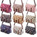 More4bagz Ladies Girls Boutique Canvas Shoulder Messenger Satchel Saddle School Handbag Bag