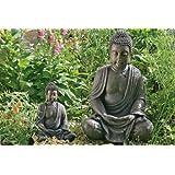 Deko-Buddha, Buddha-Figur, Buddha sitzend ca. 40 cm hoch