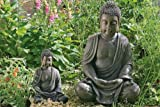 Large Detailed Stone Look Resin Buddha Garden Ornament