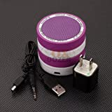 Universal (Spp) Super Bass Bluetooth Wireless Speaker Fits Axess Ta2523 Ta2522 Tagms2501 Ta2504 Ta2508 Ta2510 Tabt2503 Ta2511 Ta2509 Sp1001 (Purple and White) image