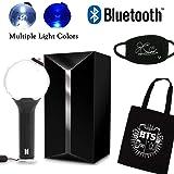 BTS Lightstick Ver.3 Bangtan Boys Concert Light Stick Army Bomb Battery Operated Concert Lamp (BTS Mask + Bag + Ver.3 with Bluetooth) (Color: Bts Mask + Bag + Ver.3 With Bluetooth)
