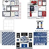 Scrapbook Customs Themed Paper and Stickers Scrapbook Kit, Air Force Journal
