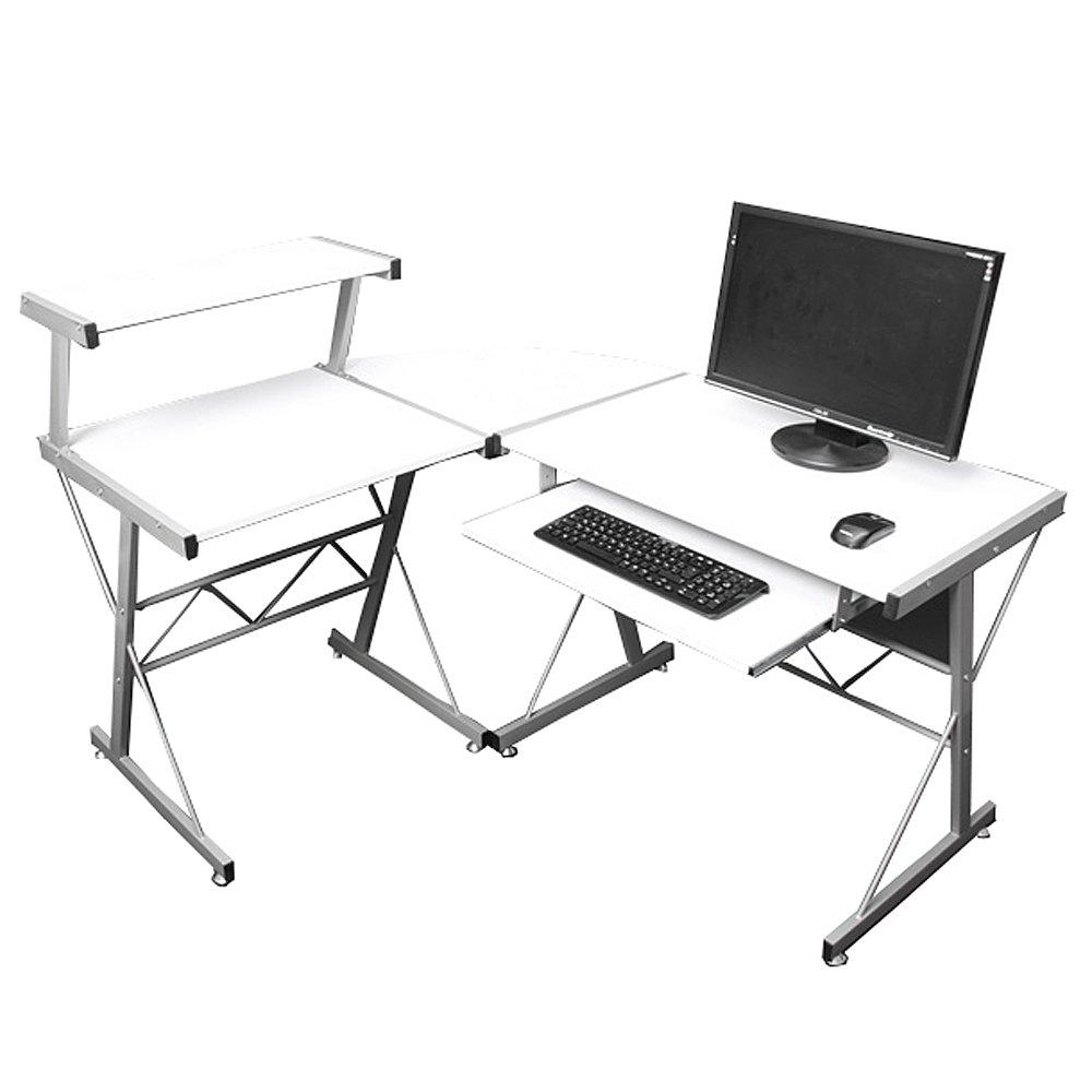 Jugend-Schreibtisch Bürotisch Nevada, ca.100x115x140cm ~ weiß bestellen
