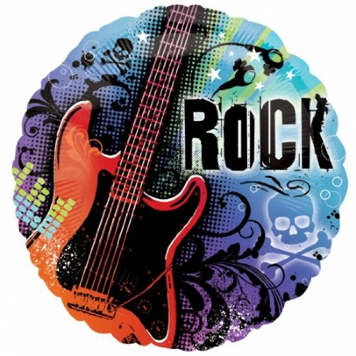 18 Inch Rock Star Metallic Balloon - Each