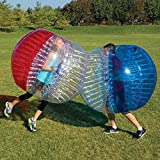 BubbleU24(TM) Bubble Ball 5' for Bubble Soccer Zorb Football Adult Size 1.5 Meter Bubble Suits Red and Clear