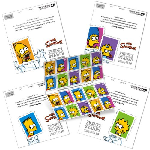 The Simpsons Postage Stamps US First Class 44 cent stamps