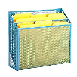 Honey-Can-Do OFC-04868 Mesh Vertical File Sorter, 3.6 x 12.6 x 11.5\