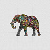 Decal Car Window Motorcycle Helmet,Truck,Vinyl Art Decor Laptop Notebook Doors Stickers Colorful Elephant Color print (24 X 16.7 inch) X9296