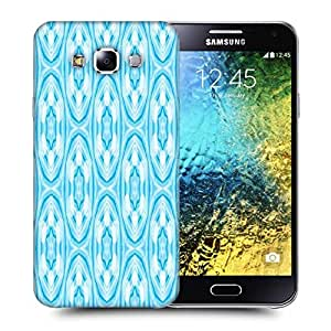 Snoogg Abstract Star Blue Pattern Printed Protective Phone Back Case Cover ForSamsung Galaxy E5